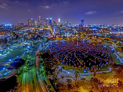Staples Center Photograph - Macarthur Park Lake by Art K