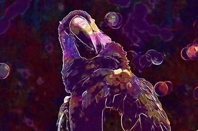 Digital Art - Macaw Ave Birds Colors Exotic Bird  by PixBreak Art