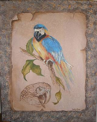 Painting - Macaw by Betty-Anne McDonald