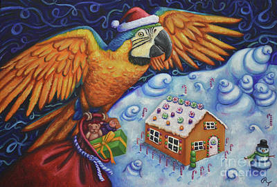 Painting - Macaw Candyland by Rebecca Tiano