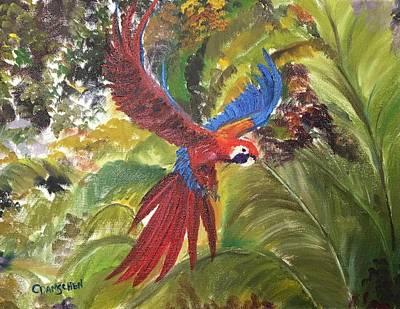 Painting - Macaw Parrot 3 by Cheryl Damschen