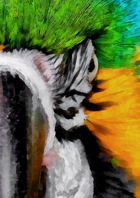 Digital Art - Macaw Upclose 2 by Ernie Echols