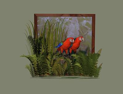 Digital Art - Macaws by Nancy Pauling