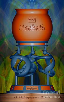 Michael C Geraghty Digital Art - Macbeth -  A Shakespearean Theme - Amcg20170101 24x15 by Michael Geraghty