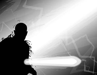 Alliance Digital Art - Mace Windu by Nathan Shegrud