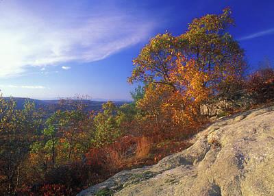 Photograph - Macedonia Ridge Foliage by John Burk