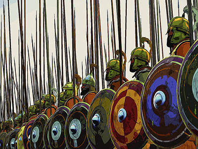 Painting - Macedonian Phalanx by Andrea Mazzocchetti