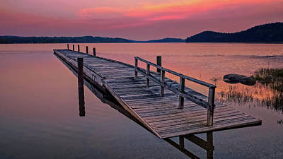 Photograph - Machias Bay Boat Dock Sunset  -  170720_194905911_machiasbaydock by Frank J Benz