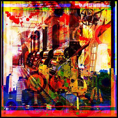 Ornamental Digital Art - Machine Age-1 by Gary Grayson