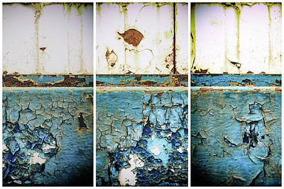 Photograph - Machine Rust Triptych by John Williams