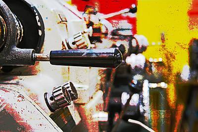 Wheels Photograph - Machine Shop Grunge 6 by J Darrell Hutto