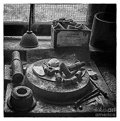 Photograph - Machine Shop Window Still Life 2 by ELDavis Photography