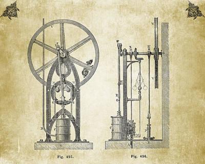 Filigree Drawing - Machine Version II by Greg Noblin