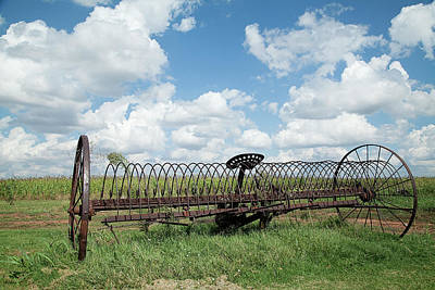 Photograph - Machinery And Sky by Gina Zhidov