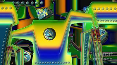 Digital Art - Machinery by Ron Bissett