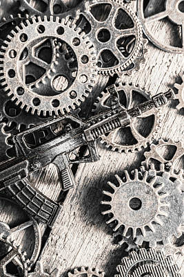 Counter Photograph - Machines Of Military Precision  by Jorgo Photography - Wall Art Gallery