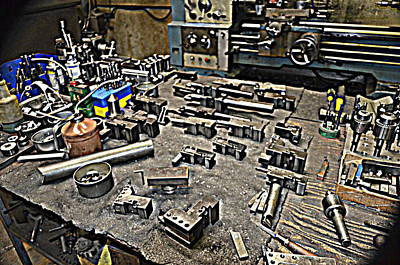 Photograph - Machinist Shop Tools Series 3 by Antonia Citrino