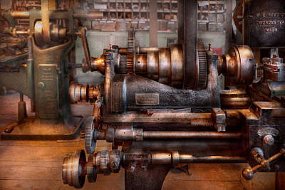 Tool Maker Photograph - Machinist - Steampunk - 5 Speed Semi Automatic by Mike Savad
