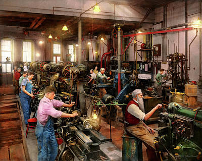 Photograph - Machinist - The Master Class 1920 by Mike Savad
