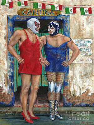 Macho Man Painting - Macho Menos by Nancy Almazan