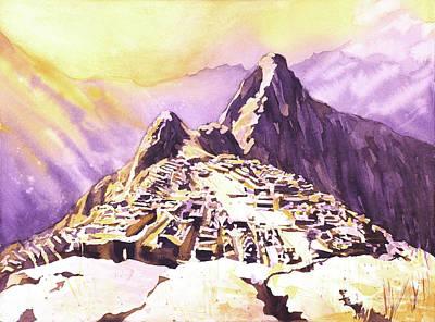 Painting - Machu Picchu Dawn by Ryan Fox