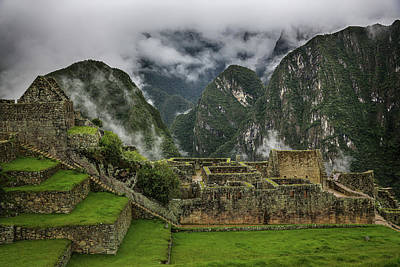 Photograph - Machu Picchu Green by John Haldane
