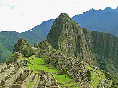 Photograph - Machu Picchu - Iconic View by Allen Sheffield