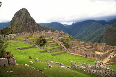 Photograph - Machu Picchu The Lost Incan City by Rene Triay Photography