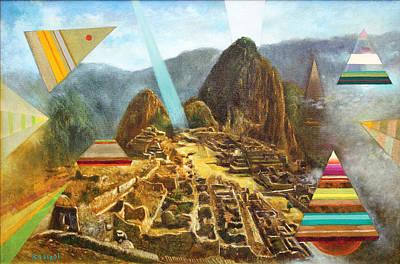 Mochica Painting - Machu Picchu by Roberto Kasisol