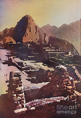 Machu Picchu Ruins Original by Ryan Fox