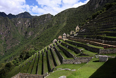 Photograph - Machu Picchu Terraced Sector by Aidan Moran