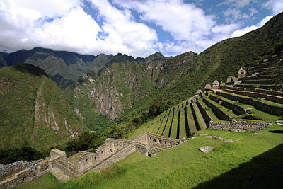 Photograph - Machu Picchu Terraces by Aidan Moran