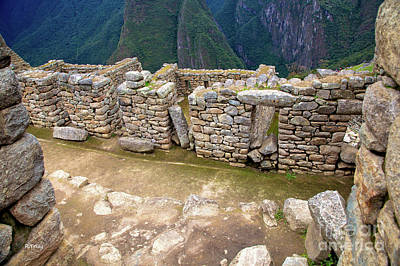 Photograph - Machu Picchu The Sacred Walls by Rene Triay Photography