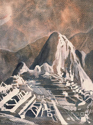 Painting - Machu Picchu Vista by Ryan Fox