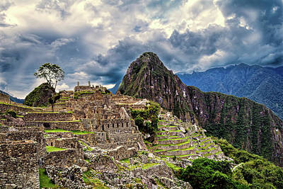 Photograph - Machu Picchu's Arquitecture by Maria Coulson