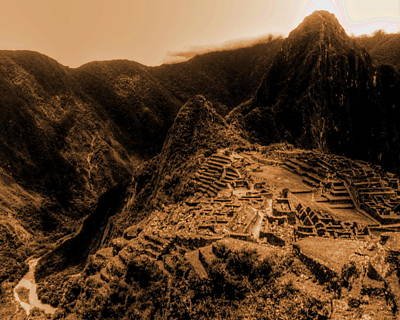 Photograph - Machu Pichu by Richard Omura