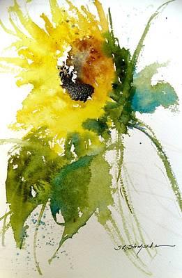 Painting - Maci's Sunflower by Sandra Strohschein