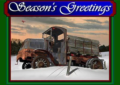 Digital Art - Mack Ac Season's Greetings by Stuart Swartz