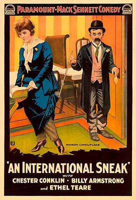 1910s Mixed Media - Mack Sennett Comedy - An International Sneak 1917 by Mountain Dreams