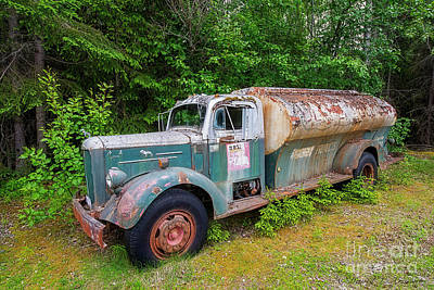 Photograph - Mack Tanker Truck by David Arment