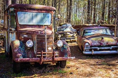 Photograph - Mack Truck And Plymouth by Matthew Pace