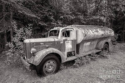 Photograph - Mack Truck Bw by David Arment