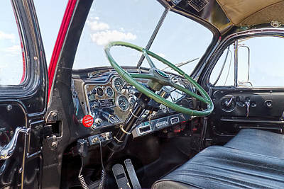 Big Rigs Photograph - Mack Truck Interior by Rudy Umans