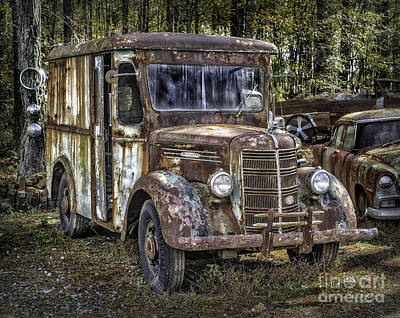 Very Old Mack Truck Art Print