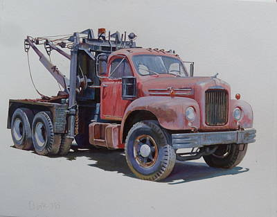 Mack Wrecker. Art Print
