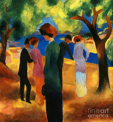 Photograph - Macke: Green Jacket, 1913 by Granger