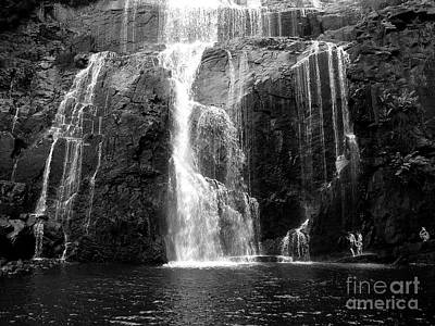 Photograph - Mackenzie Falls Bw by Tim Richards