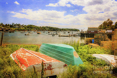 Photograph - Mackerel Cove Dory And Dinghy   by Elizabeth Dow