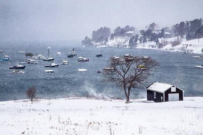 Mid-coast Maine Photograph - Mackerel Cove Snow by Benjamin Williamson