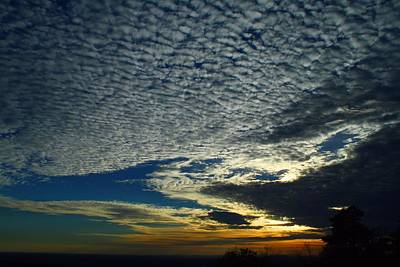 Photograph - Mackerel Skies by Kathryn Meyer